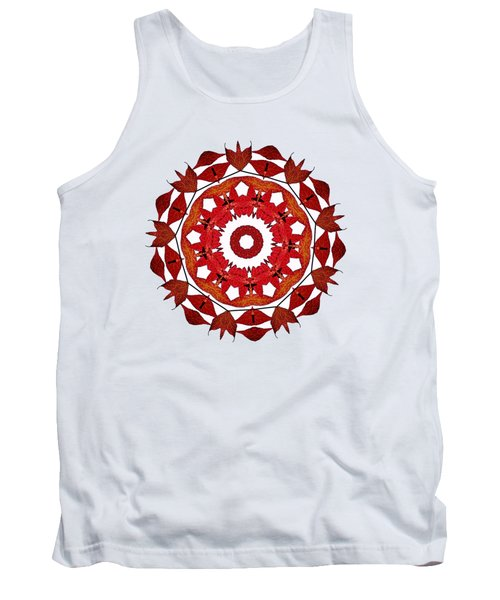 Autumn Leaves Mandala By Kaye Menner Tank Top