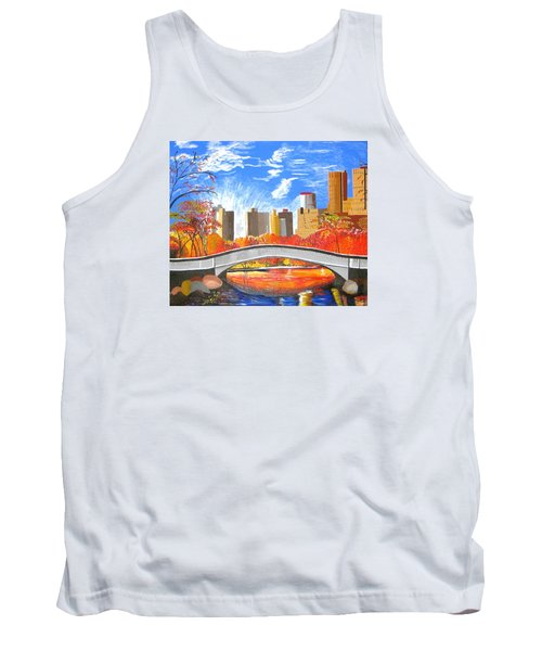 Autumn Oasis Tank Top by Donna Blossom