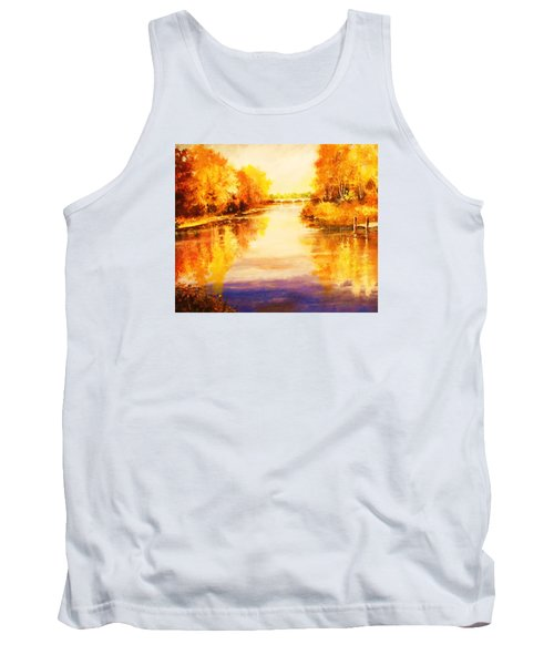 Tank Top featuring the painting Autumn Gateway by Al Brown