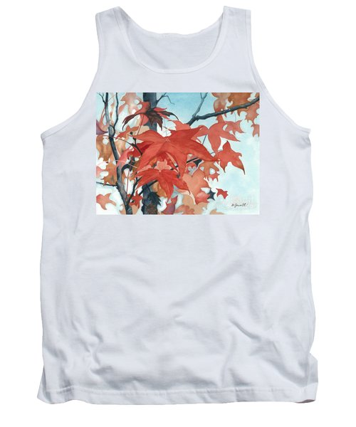 Tank Top featuring the painting Autumn's Artistry by Barbara Jewell