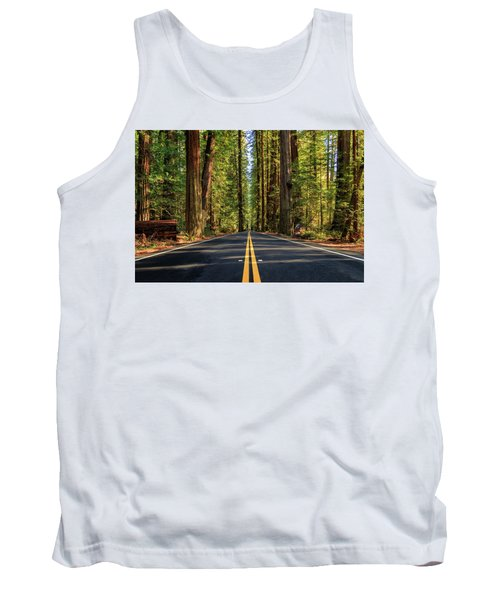 Tank Top featuring the photograph Avenue Of The Giants by James Eddy