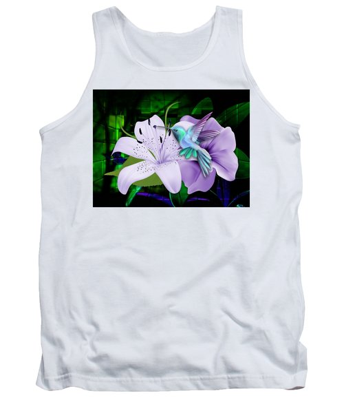 Tank Top featuring the mixed media Aviation Hummingbird by Marvin Blaine
