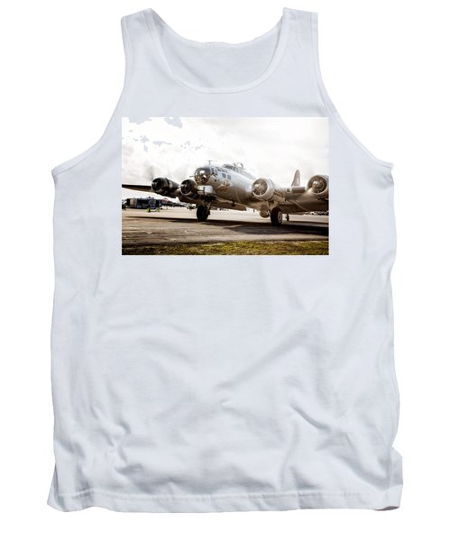 B-17 Bomber Ready For Takeoff Tank Top by Michael White