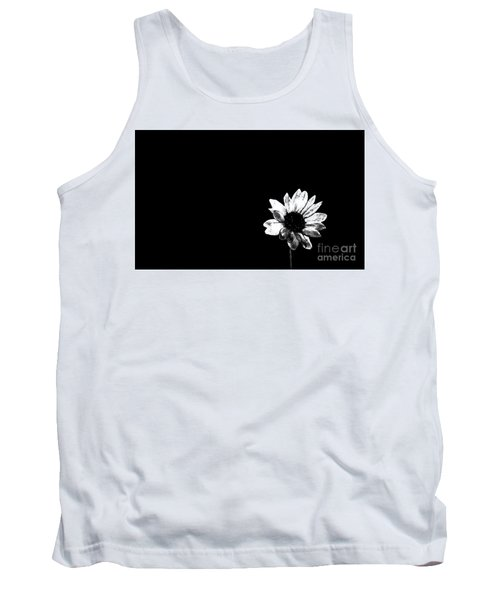 B/w Flower  Tank Top