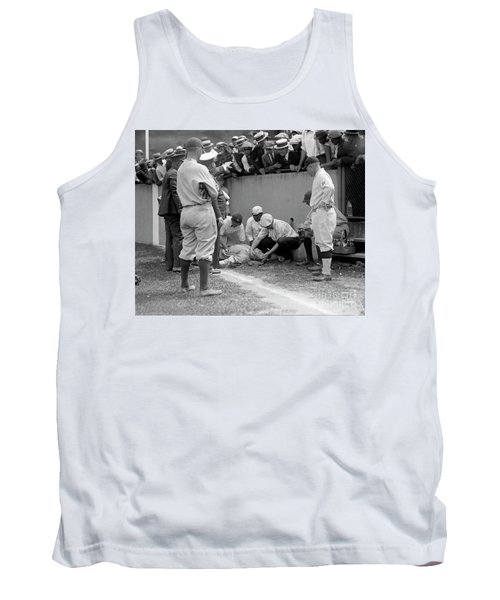 Babe Ruth Knocked Out By A Wild Pitch Tank Top
