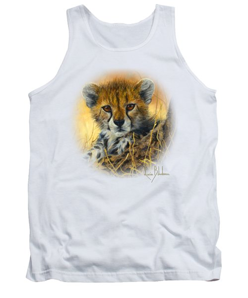 Baby Cheetah  Tank Top by Lucie Bilodeau