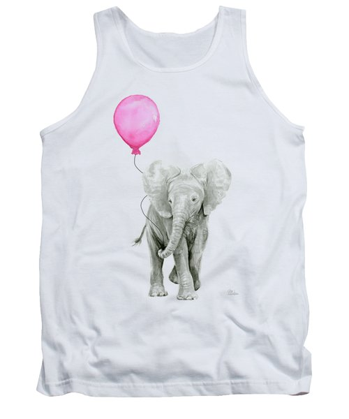Baby Elephant Watercolor  Tank Top