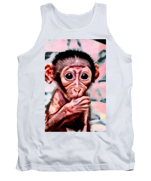 Baby Monkey Realistic Tank Top by Catherine Lott