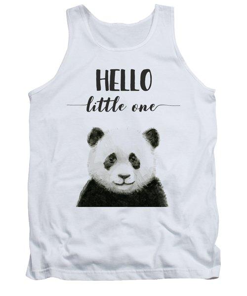 Baby Panda Hello Little One Nursery Decor Tank Top