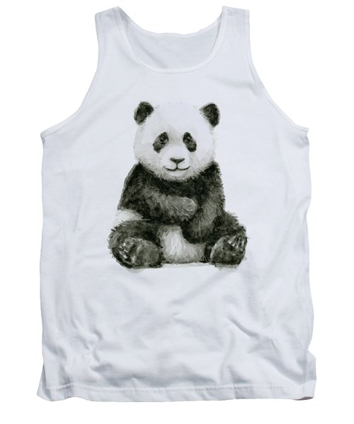 Baby Panda Watercolor Tank Top