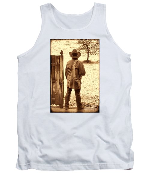 Back To Work Tank Top by American West Legend By Olivier Le Queinec