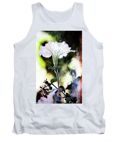 Backlit White Flower Tank Top