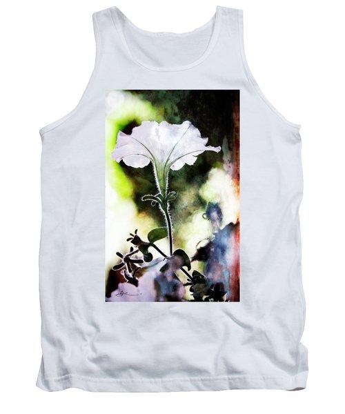 Backlit White Flower Tank Top
