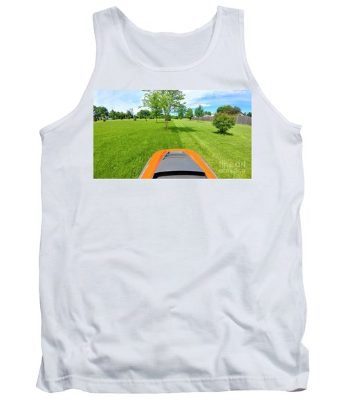 Tank Top featuring the photograph Backyard Mowing by Ricky L Jones