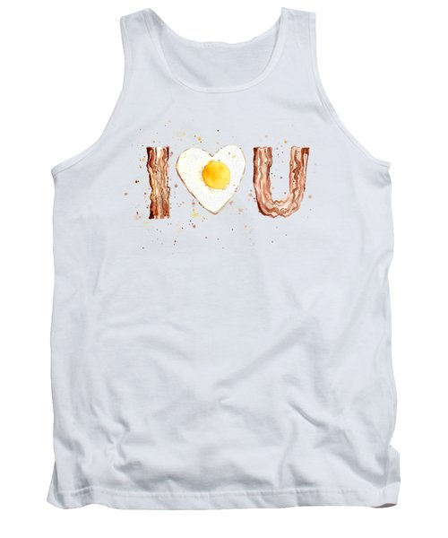 Bacon And Egg I Love You Tank Top