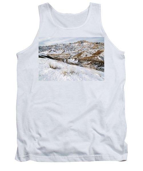 Badlands In Snow Tank Top