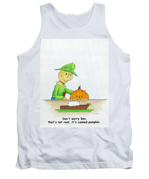 Baggs And Boo Canned Pumpkin Tank Top