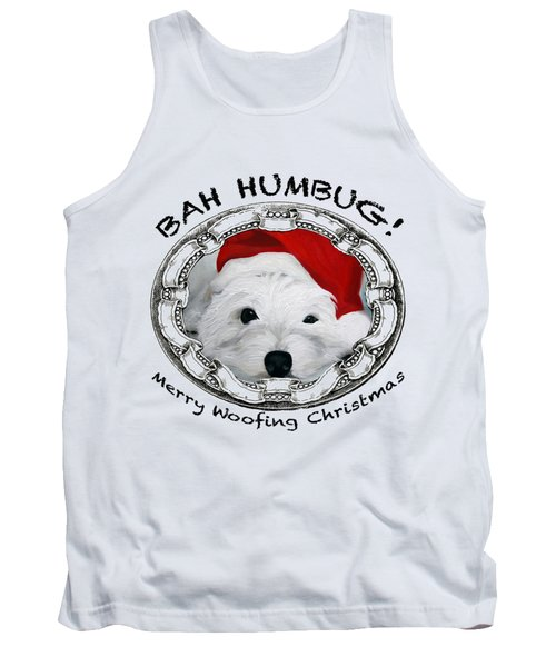 Bah Humbug Merry Woofing Christmas Tank Top
