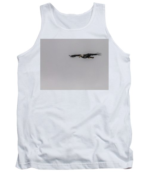 Tank Top featuring the photograph Bald Eagle Gliding by Timothy Latta