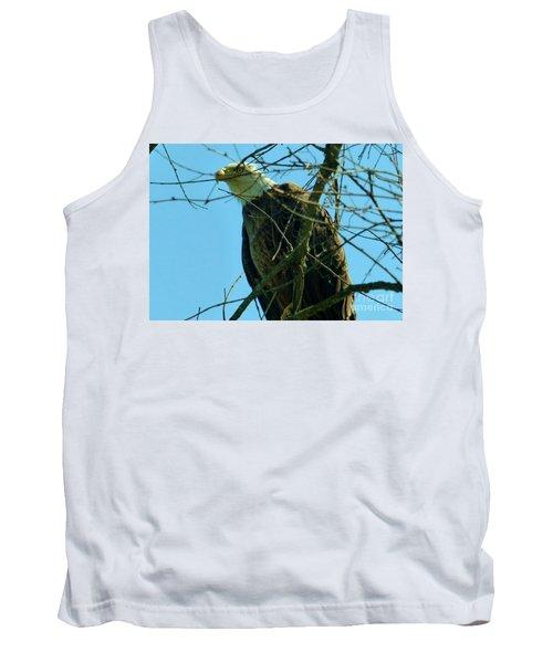 Bald Eagle Keeping Guard Tank Top