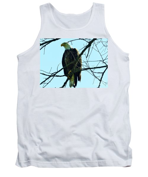 Bald Eagle Over The Root River Tank Top