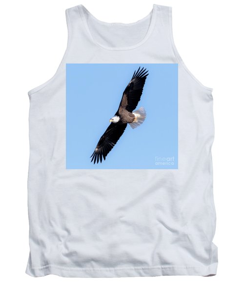Bald Eagle Overhead  Tank Top by Ricky L Jones