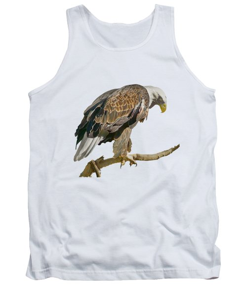 Tank Top featuring the photograph Bald Eagle - Transparent by Nikolyn McDonald