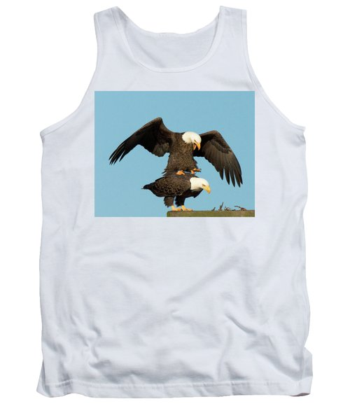 Bald Eagles Mating Tank Top