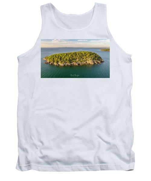 Bald Pocupine Island, Bar Harbor Tank Top