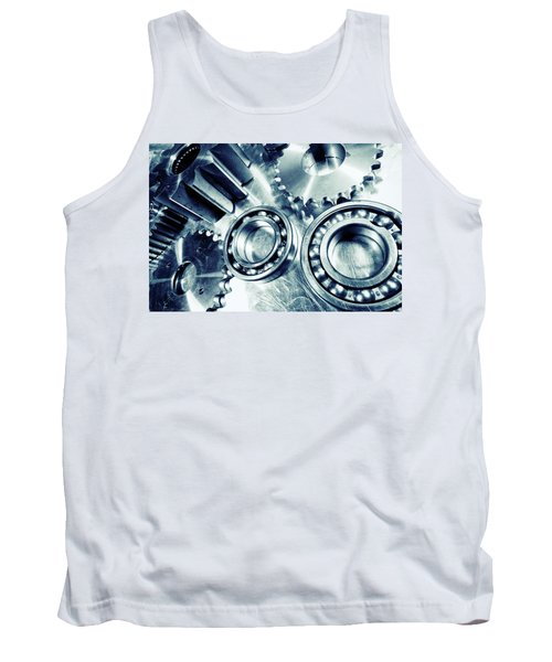 Ball-bearings And Cogs In Titanium Tank Top