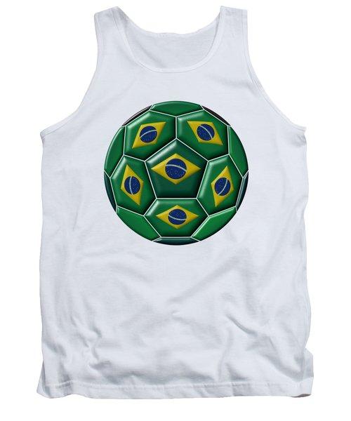 Ball With Brazilian Flag Tank Top