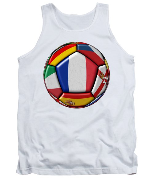 Ball With Flag Of France In The Center Tank Top by Michal Boubin