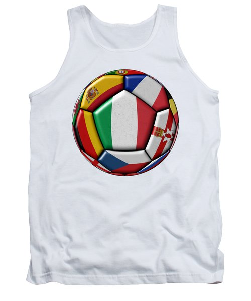 Ball With Flag Of Italy In The Center Tank Top by Michal Boubin