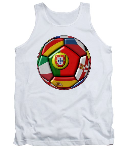 Ball With Flag Of Portugal In The Center Tank Top by Michal Boubin