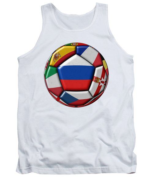 Ball With Flag Of Russia In The Center Tank Top