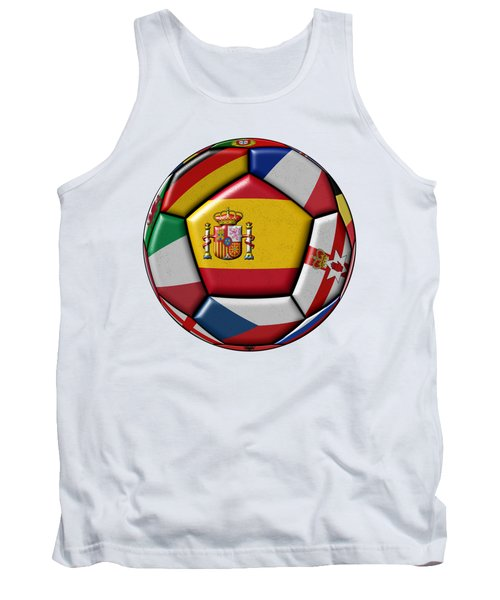 Ball With Flag Of Spain In The Center Tank Top by Michal Boubin