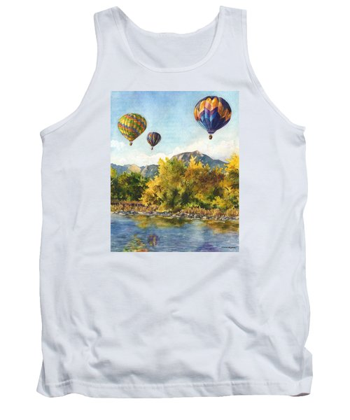 Tank Top featuring the painting Balloons At Twin Lakes by Anne Gifford