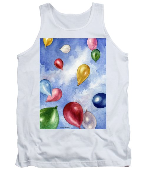 Tank Top featuring the painting Balloons In Flight by Anne Gifford