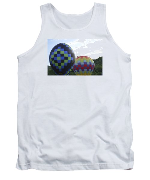 Tank Top featuring the photograph Balloons Waiting For The Weather To Clear by Linda Geiger