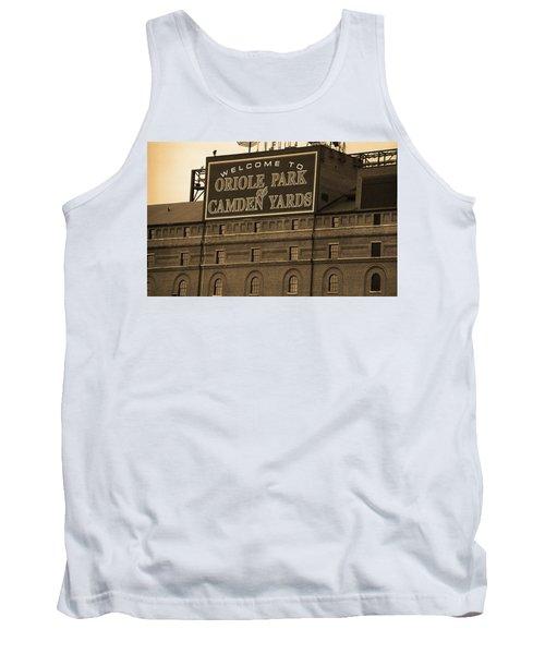 Baltimore Orioles Park At Camden Yards Sepia Tank Top