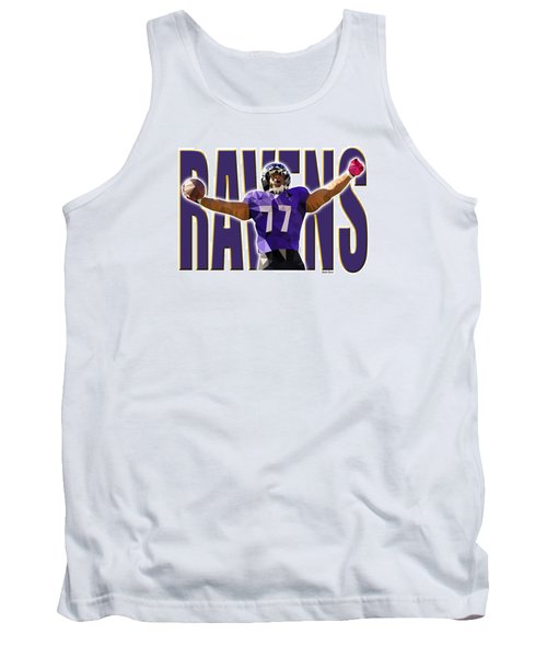 Tank Top featuring the digital art Baltimore Ravens by Stephen Younts