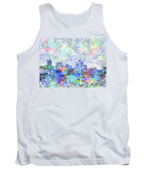 Tank Top featuring the painting Baltimore Skyline Watercolor 10 by Bekim Art