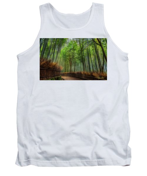 Tank Top featuring the photograph Bamboo Path by Rikk Flohr