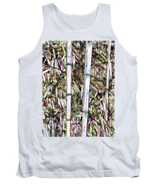Tank Top featuring the painting Bamboo Stalks by Lanjee Chee
