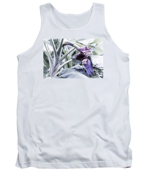 Tank Top featuring the photograph Banana Beginnings In Cool Shades by Kerri Ligatich