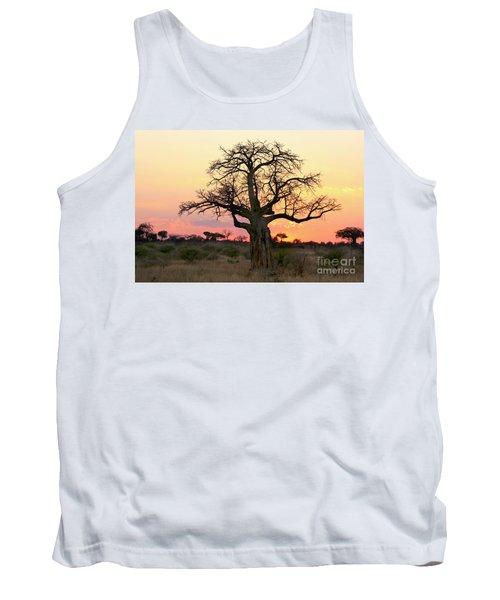 Baobab Tree At Sunset  Tank Top