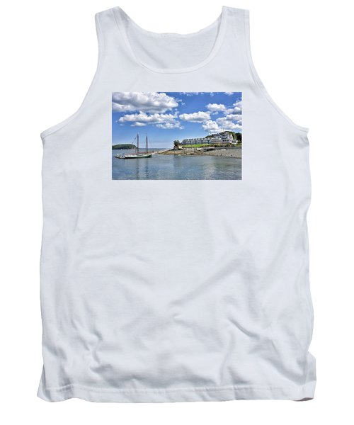 Bar Harbor Inn - Maine Tank Top by Brendan Reals
