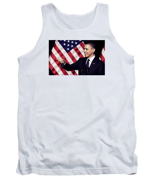 Barack Obama Tank Top by Iguanna Espinosa