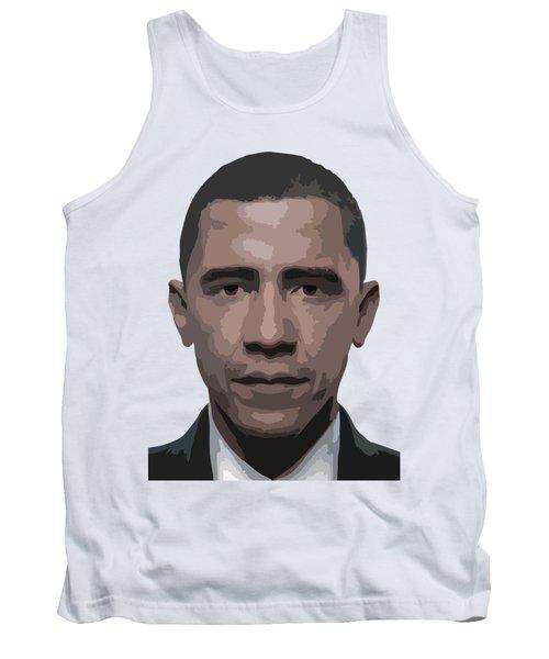 Barack Obama Tank Top by Tshepo Ralehoko