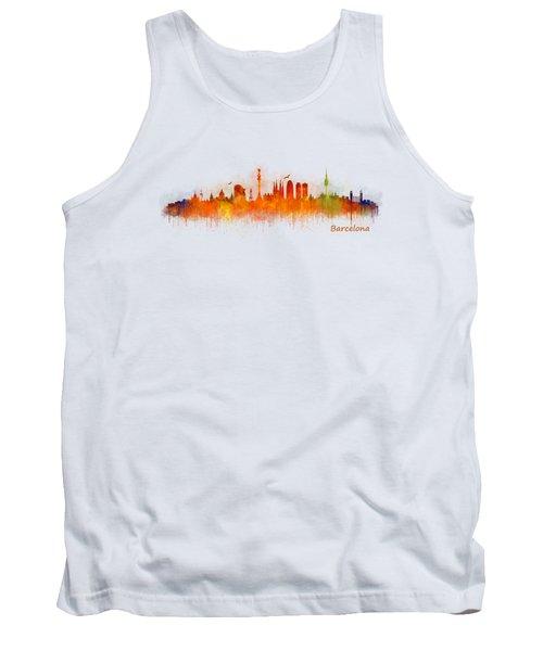 Barcelona City Skyline Hq _v3 Tank Top
